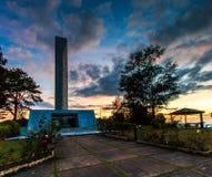 Khao Kho minnesmärke i det Phetchabun landskapet av Thailand Royaltyfri Fotografi