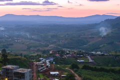 Khao Kho mountain ranges in the sunset, Thailand Stock Photos