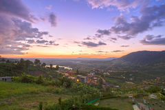 Khao Kho mountain ranges in the sunset, Thailand Royalty Free Stock Photo