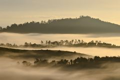 Khao kho. Shoot from the top of the mountain Stock Photography
