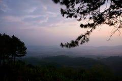 Khao-Kho, Thailand. Sunrise view with misty mountains at Khoa-Kho, Thailand Royalty Free Stock Photos