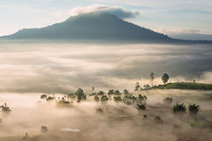 Khao Kor morning mist. View of Khao Kor valley community in morning mist at Phetchabun province Thailand Stock Photography