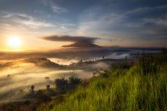 Khao Kora ranku mgła Zdjęcie Royalty Free