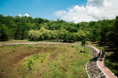 Khao Kradong forest park, old volcano in Buriram, Thailand stock image