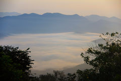 The sunrise at Khao Krajome Stock Image
