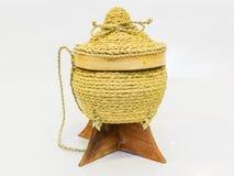 Khao Kratip, тайская коробка липкого риса E-Сан стоковые изображения