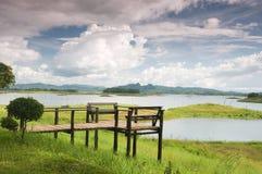 khao laem国家公园观点 免版税库存图片