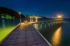 Khao Laem Ya国家公园的暮色海 库存图片