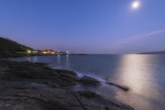 Khao Laem Ya. Night photograph  long exposure in Rayong Royalty Free Stock Image