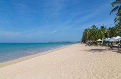 Khao Lak sand beach Thailand Panorama Stock Image