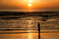 Khao Lak Sunset. A wonderful sunset at the beach of the Ocean Breeze Resort in Khao Lak Royalty Free Stock Image