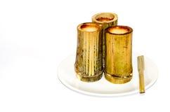 Khao Larm (arroz de bambú) Fotografía de archivo libre de regalías