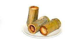 Khao Larm (arroz de bambú) Fotos de archivo