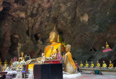 Khao Luang Cave in Phetchaburi,Thailand,with a large number of Buddha images inside. Stock Image