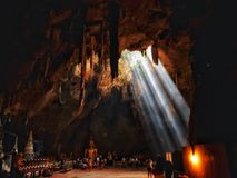Khao Luang Cave in Thailand royalty free stock images