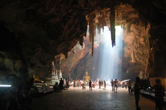 Khao Luang grotta Phetchaburi, Thailand Royaltyfria Bilder