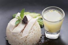 Khao manGai recept Thailändsk gatamatstil Royaltyfri Foto