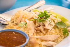 KHAO-MANKAI (ris som ångas med feg soppa) Royaltyfri Foto