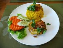 Khao Mok Gai Thai Rice e pollo Biryani Fotografia Stock Libera da Diritti