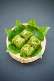 Khao neaw Kaew, Thai dessert Royalty Free Stock Photography