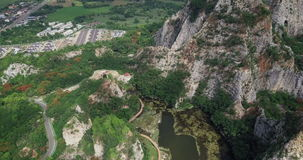 Khao Ngu Stone Park at Ratchabri, Thailand stock video
