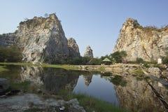 Khao Ngu Stone Park, Thailand Royalty Free Stock Images