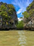 Khao Phing Kan bay, near James Bond island, Thailand. Khao Phing Kan bay, unique rocks near James Bond island, Thailand Royalty Free Stock Images