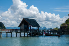 Khao Phing Kan Island Pier near Tapu Island (popularly called James Bond Island) Royalty Free Stock Photography