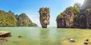 Khao Phing Kan James Bond ö på en solig dag Arkivbild