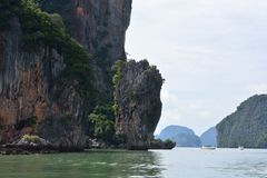 Khao Phing Kan, powszechnie znać jako James Bond wyspa zdjęcie royalty free