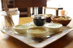 Khao Pia, het echte Thaise dessert Stock Afbeeldingen