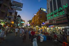Khao San Road Bangkok Backpacker Street Nightlife Royalty Free Stock Photography