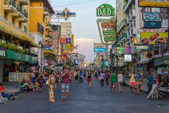 Khao San Road, Bangkok, Thailand Stock Photography