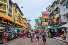 Khao San Road in Bangkok, Thailand. royalty free stock photography