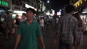 Khao San Road, Bangkok, Thailand stock video footage