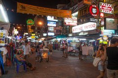 Khao San Road in Bangkok, Thailand Stock Images
