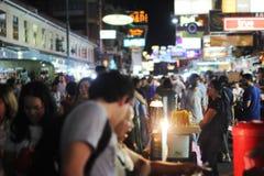 Khao San Straße in Bangkok Stockbild