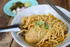 Khao Soi ή σόγια Khao Στοκ φωτογραφίες με δικαίωμα ελεύθερης χρήσης