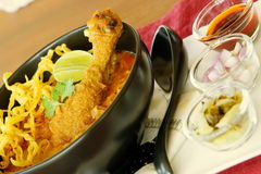 Khao Soi, ταϊλανδικά τρόφιμα. Στοκ φωτογραφίες με δικαίωμα ελεύθερης χρήσης