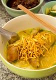 Khao soi/泰国样式面条 免版税库存照片