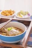 Khao soi curry'ego tajlandzki kluski. Zdjęcie Stock
