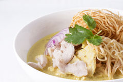 Khao soi , curry noodles , thai food Royalty Free Stock Photography