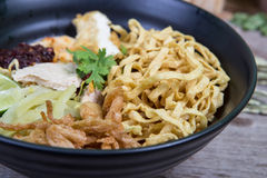 Khao soi , curry noodles Royalty Free Stock Image