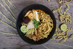 Khao soi , curry noodles Royalty Free Stock Photography