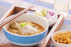 Khao soi curry thai noodle. Khao soi curry noodle northern thai traditional food royalty free stock images