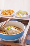 Khao soi curry thai noodle. Khao soi curry noodle northern thai traditional food stock photo