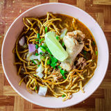 Khao Soi Gai, curry noodles , Thai food Royalty Free Stock Image