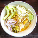 Khao Soi Gai, curry noodles , Thai food Stock Photos