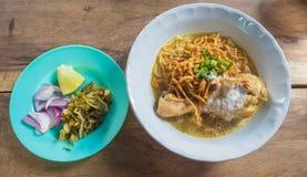 Khao Soi Kai, alimento locale dalla regione del nord Fotografia Stock