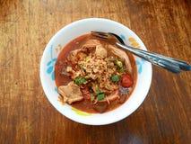 Khao Soi Nam Ngeaw Stockfoto